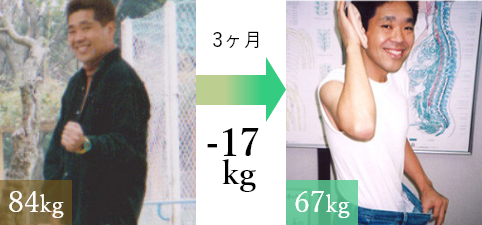 3ヶ月で-17kgの減量!大成功でした。